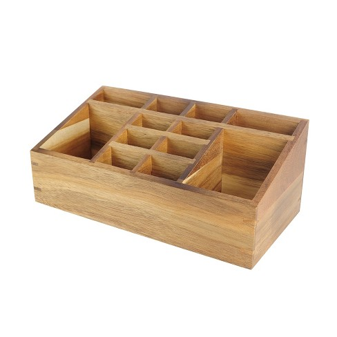 "10""X5""X4"" 12 Compartment Vanity Organizer Wood - Threshold™ - image 1 of 2"