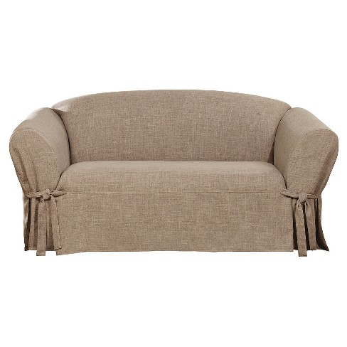 Textured Linen Loveseat Slipcover Sure Fit Target