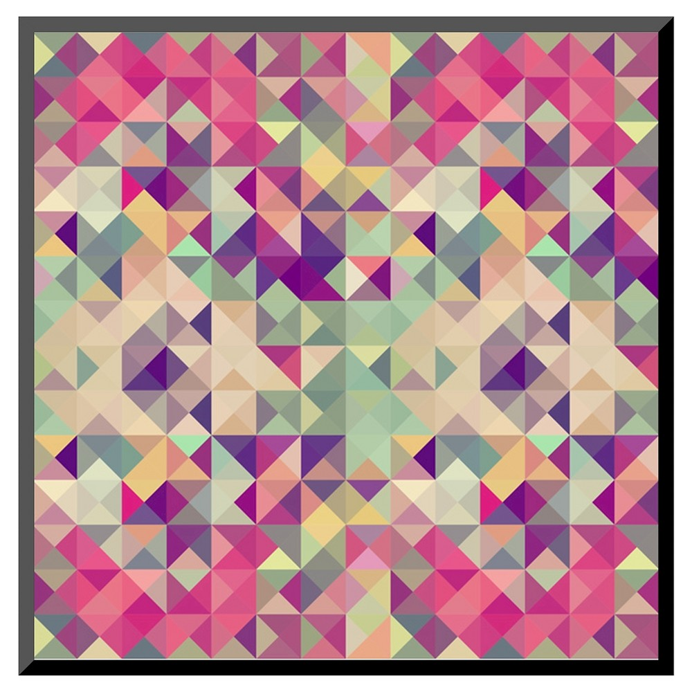 Art.com Vintage Hipsters Geometric Pattern - Mounted Print, Multi-Colored