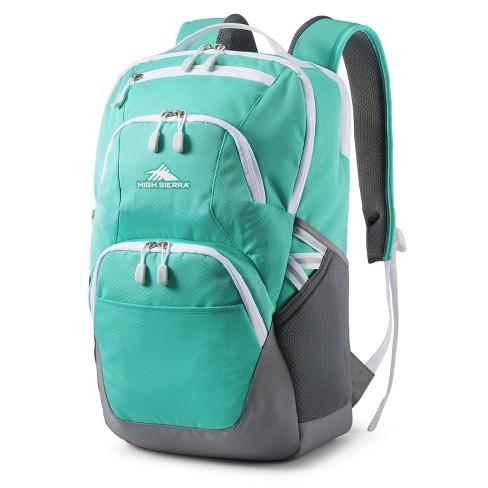 "High Sierra Swoop SG 19"" Backpack - Aquamarine/Silver - image 1 of 4"