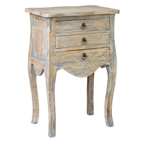 Sophie Rubberwood End Table Antique Gray - East At Main - image 1 of 4