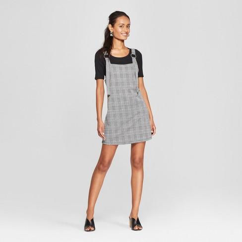 139c2dd41f6f Women's Plaid Sleeveless Jumper Dress - 3Hearts (Juniors') Black/White. Shop  all 3Hearts