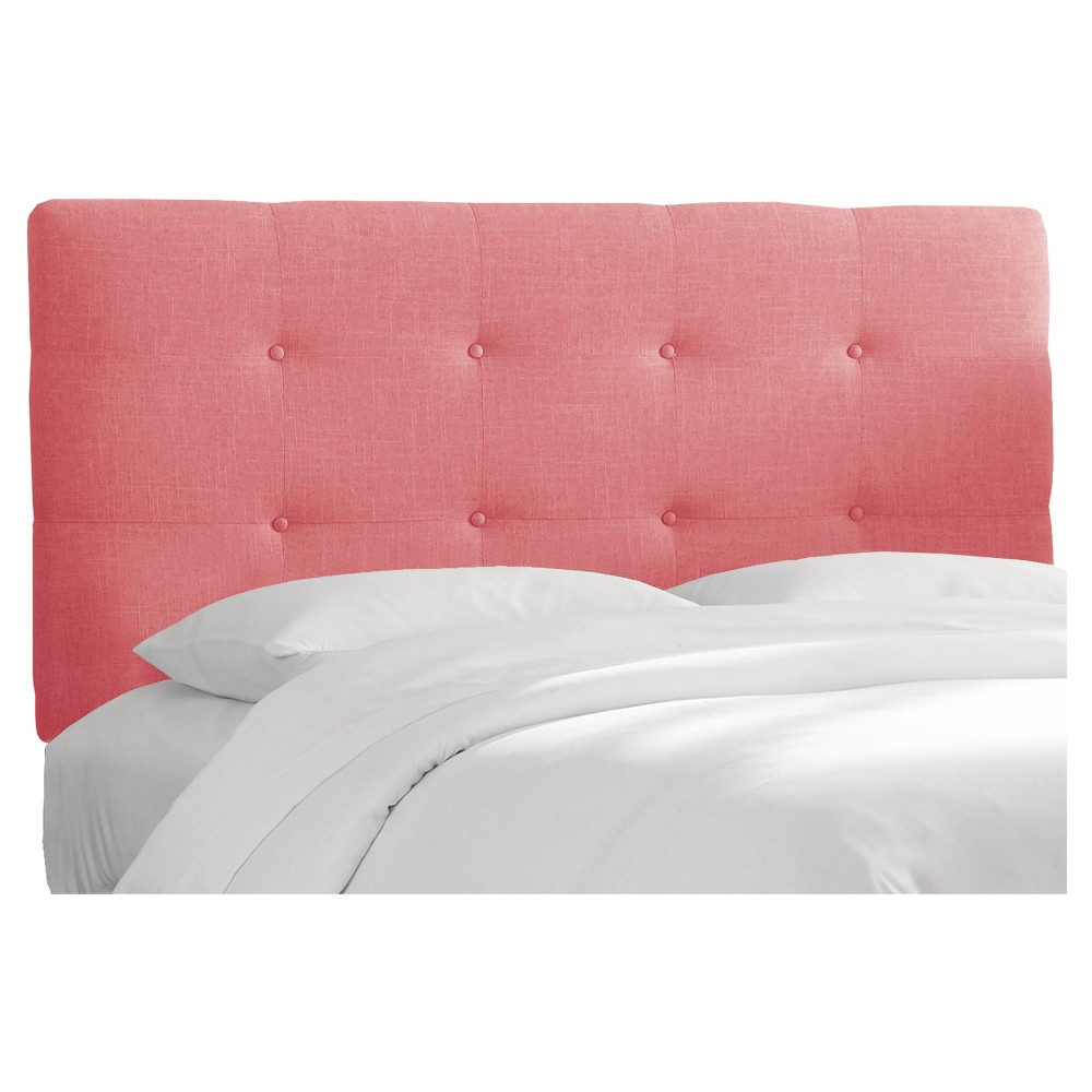 Queen Dolce Headboard Coral Linen - Cloth & Co.