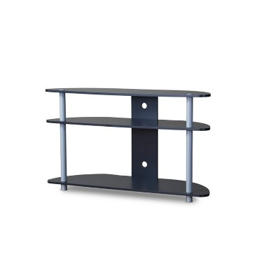 Orbit and Silver TV Stand Black/Silver - Baxton Studio