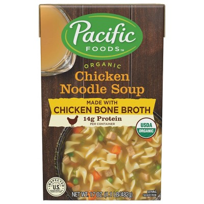 Pacific Foods Organic Chicken Noodle Soup with Bone Broth - 17oz
