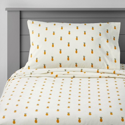Pineapple Cotton Sheet Set - Pillowfort™