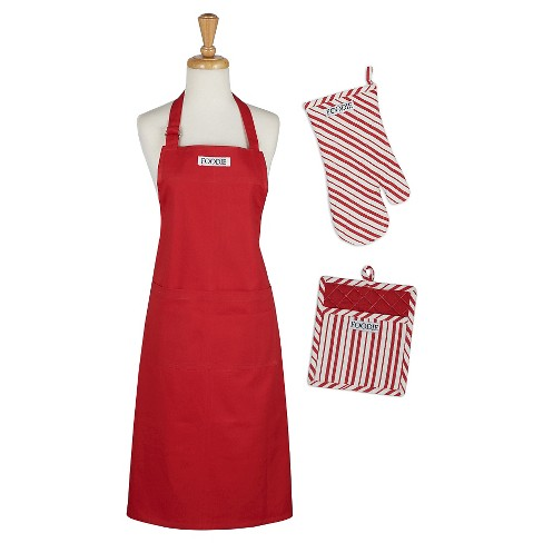 Tomato Chef Gift Set Includes Apron pot holder oven mitt Red - Design Imports - image 1 of 1