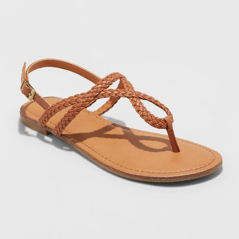 Women's Anabel Braided Thong Ankle Strap Sandals - Universal Thread™ - image 1 of 3
