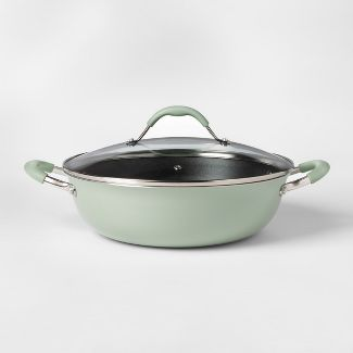 Cravings by Chrissy Teigen 5qt My Go To Aluminum Non-Stick Everyday Pan with Lid Green