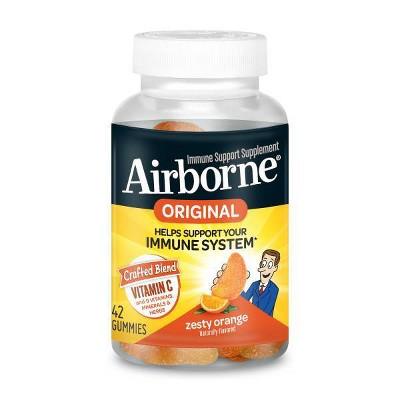 Airborne Immune Support Gummies with Vitamin C & Zinc - Orange - 42ct