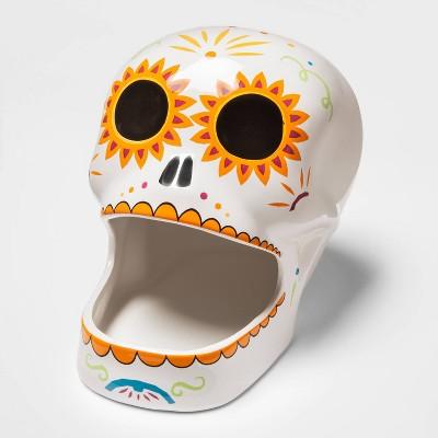 Ceramic Día de Muertos Sugar Skull Candy Bowl