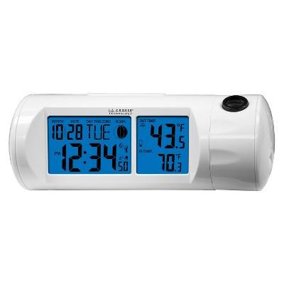 LA CROSSE Atomic Alarm Clock w/ Temperature