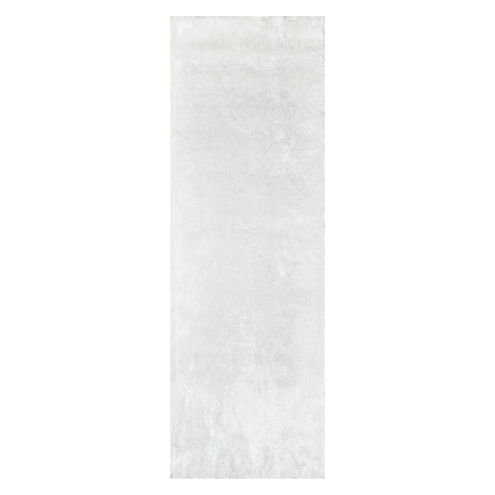 2'3X8' Solid Tufted Runner White - Momeni