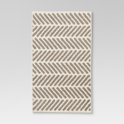 Neutral Chevron Accent Kitchen Rug (1'8 X2'10 )- Threshold™