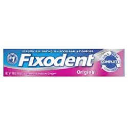 Fixodent Complete Original Denture Adhesive Cream - 2.4 oz