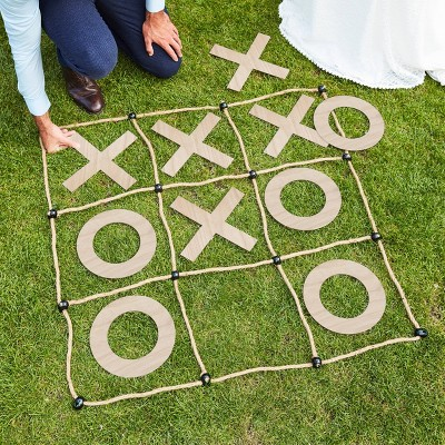 Large Wooden & Rope Outdoor 'O & X' Game