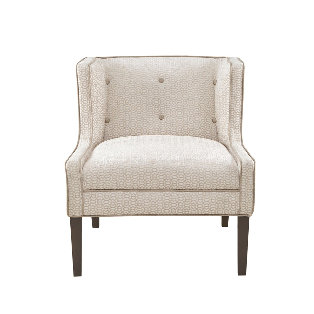 Spicer Wingback Tufted Accent Chair Cream (Ivory)