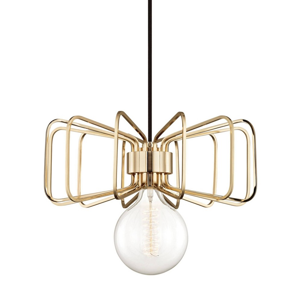 Daisy 1-Light Pendant Chandelier Aged Brass - Mitzi by Hudson Valley Compare