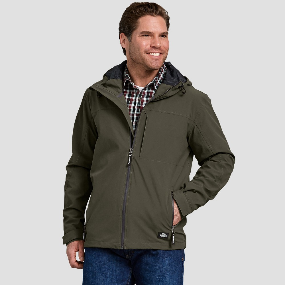 Dickies Men's Long Sleeve Softshell Jackets - Green M