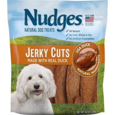 Nudges Duck Jerky Dry Dog Treats - 36oz