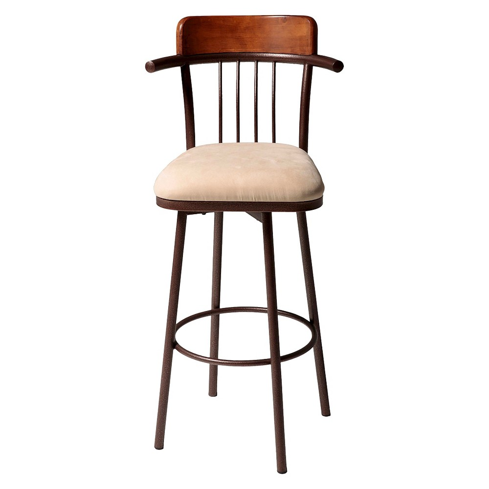 Augusta 30 Barstool Metal/Copper (Brown) - Fashion Bed Group