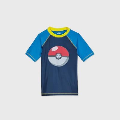 Boys' Pokemon Rash Guard Swim Shirt - Navy