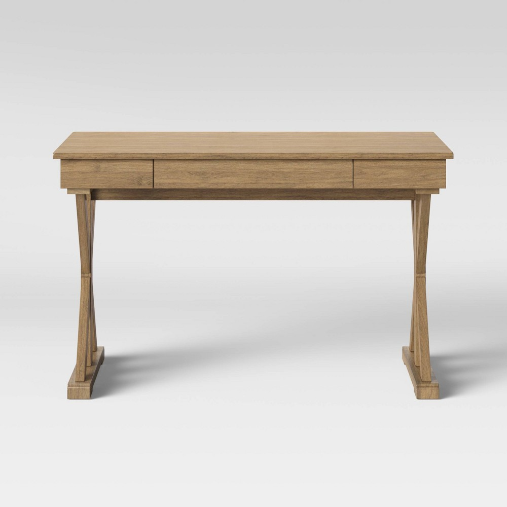 Litchfield Farmhouse Writing Desk Wheat - Threshold