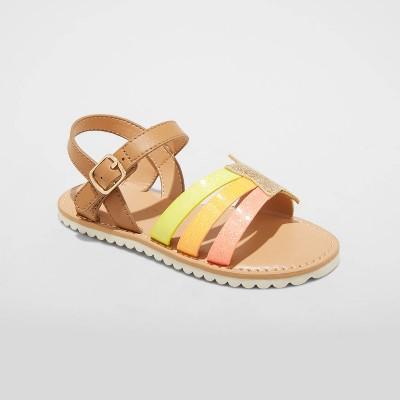 Toddler Girls' Jules Ankle Strap Sandals - Cat & Jack™ Brown