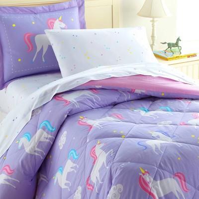 5pc Twin Unicorn Cotton Bed in a Bag - WildKin