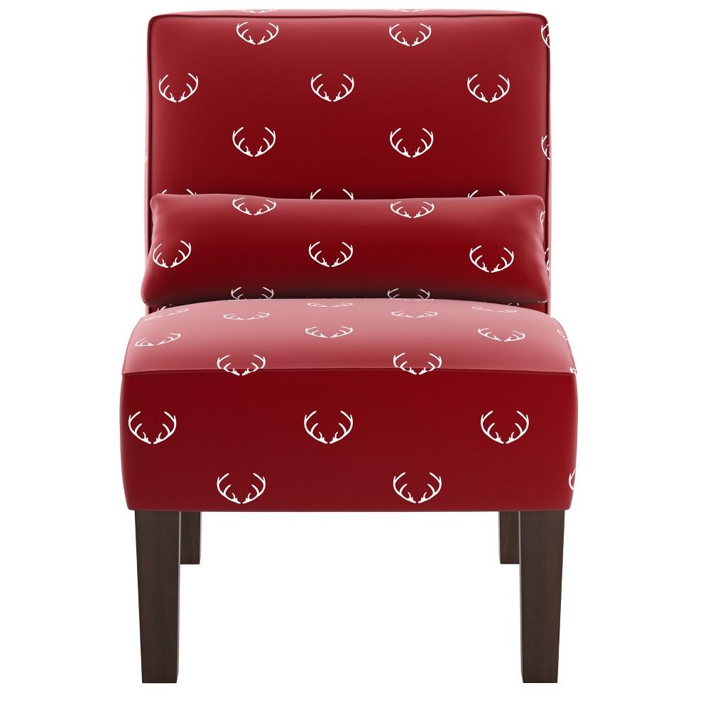 Armless Chair Antler Maroon - Skyline Furniture