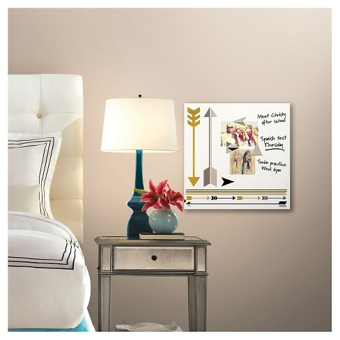 Gold/Silver Arrow Dry Erase Bulletin Board - image 1 of 1