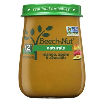 Beech-Nut Naturals Mango, Apple & Avocado Baby Food Jar - 4oz
