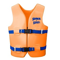 TRC Recreation Super Soft USCG Youth Medium Swim Vest, Orange Breeze