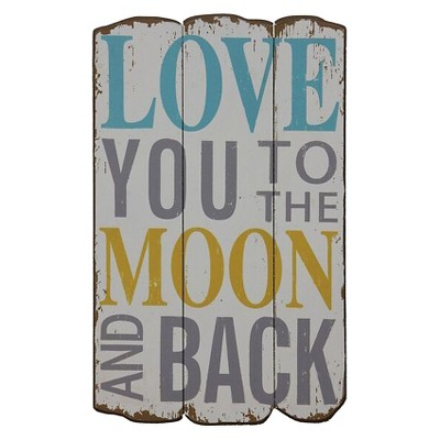 Love You To The Moon Wall Décor (12 x19 )- 3R Studios
