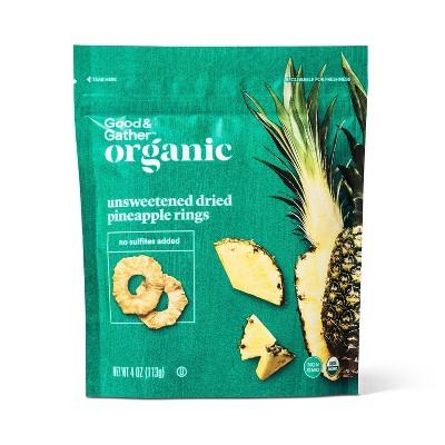 Organic Dried Unsweetened Pineapple Ring Snacks - 4oz - Good & Gather™