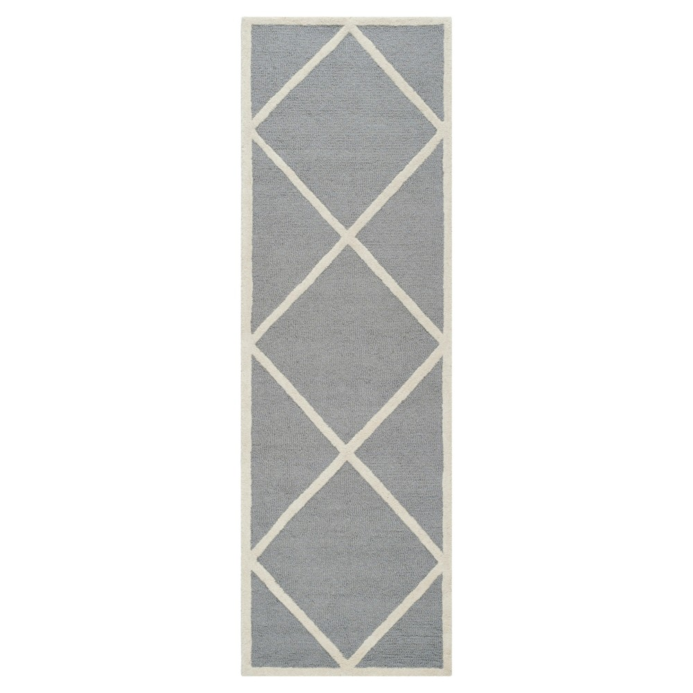 Reave Area Rug - Silver/Ivory - (2'6 x 12') - Safavieh