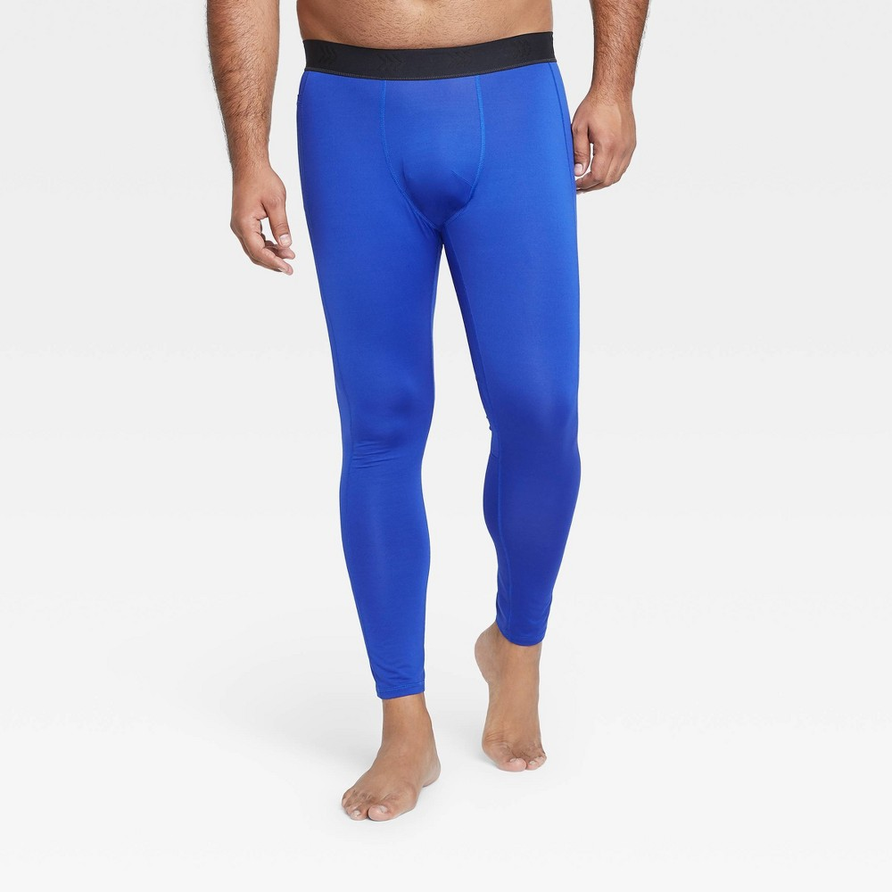 Men 39 S Fitted Tights All In Motion 8482 Blue M