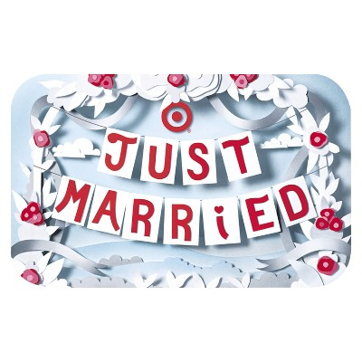Just Married Banners Gift Card - $25
