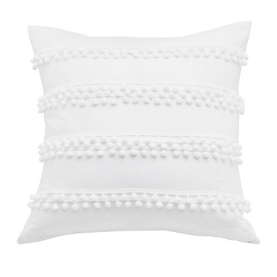 Trina Turk Pom Pom Throw Pillow White