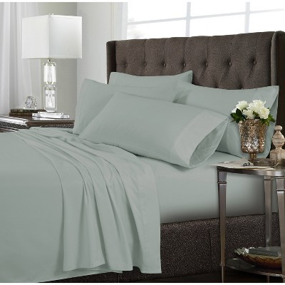 Tribeca Living Microfiber Extra Deep Pocket Sheet Set California King - Sage Green