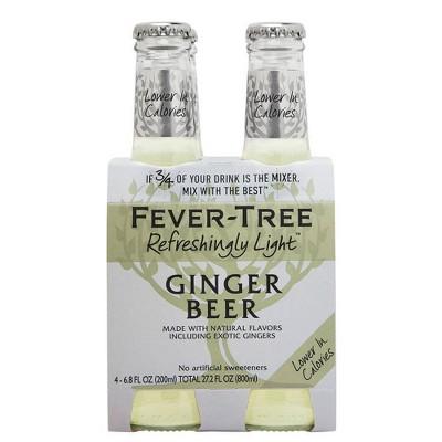 Fever-Tree Refreshingly Light Ginger Beer - 4pk/200ml Bottles