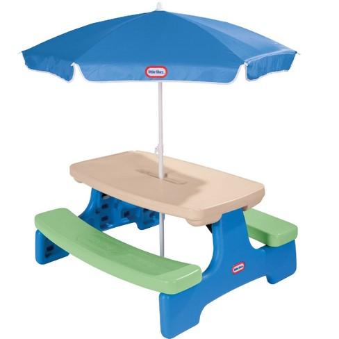 Wondrous Little Tikes Easy Store Jr Play Table With Umbrella Download Free Architecture Designs Oxytwazosbritishbridgeorg