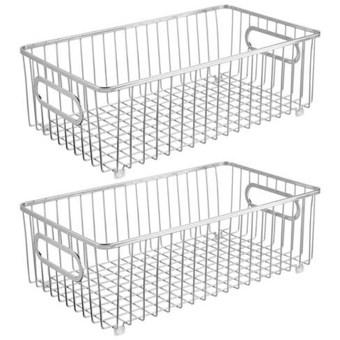 Mdesign Metal Kitchen Pantry Food Storage Basket Target