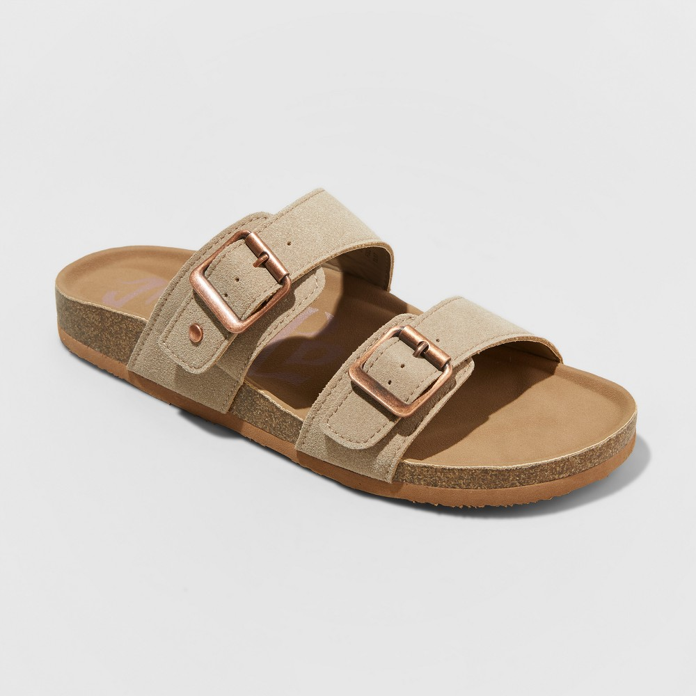 Women's Mad Love Keava Footbed Sandal - Taupe (Brown) 8
