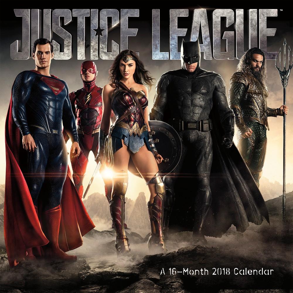 2018 The Justice League (Movie) Wall Calendar - Trends International, Multi-Colored