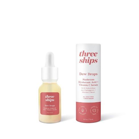 THREE SHIPS | Dew Drops Mushroom Hyaluronic Acid + Vitamin C Serum