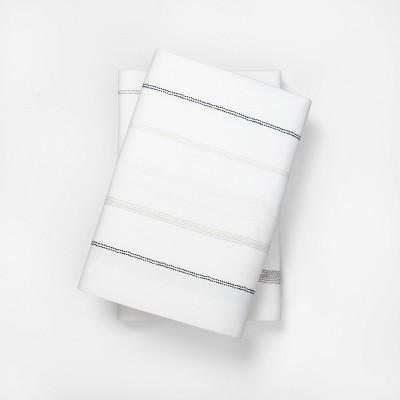 Standard Organic Pilowcase Set Stripe Gray - Hearth & Hand™ with Magnolia