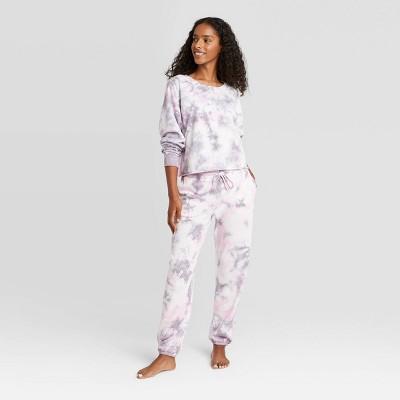 Women's Tie-Dye Lounge Sweatshirt - Colsie™ Purple L