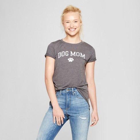 Women's Short Sleeve Dog Mom Graphic T-Shirt - Modern Lux (Juniors') - image 1 of 2