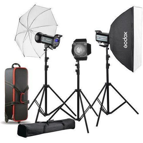 Godox QS600II 3-Light Studio Flash Kit - image 1 of 1